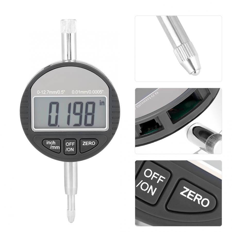 "0-12.7mm//0.5/"" 0.01mm Digital Probe Indicator Electronic Dial Test Gauge"