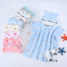 Baby Boy Girl Supper Soft Coral Velvet Toddler Kids Bathing Towel Bathrobe Hooded Bath Accessories