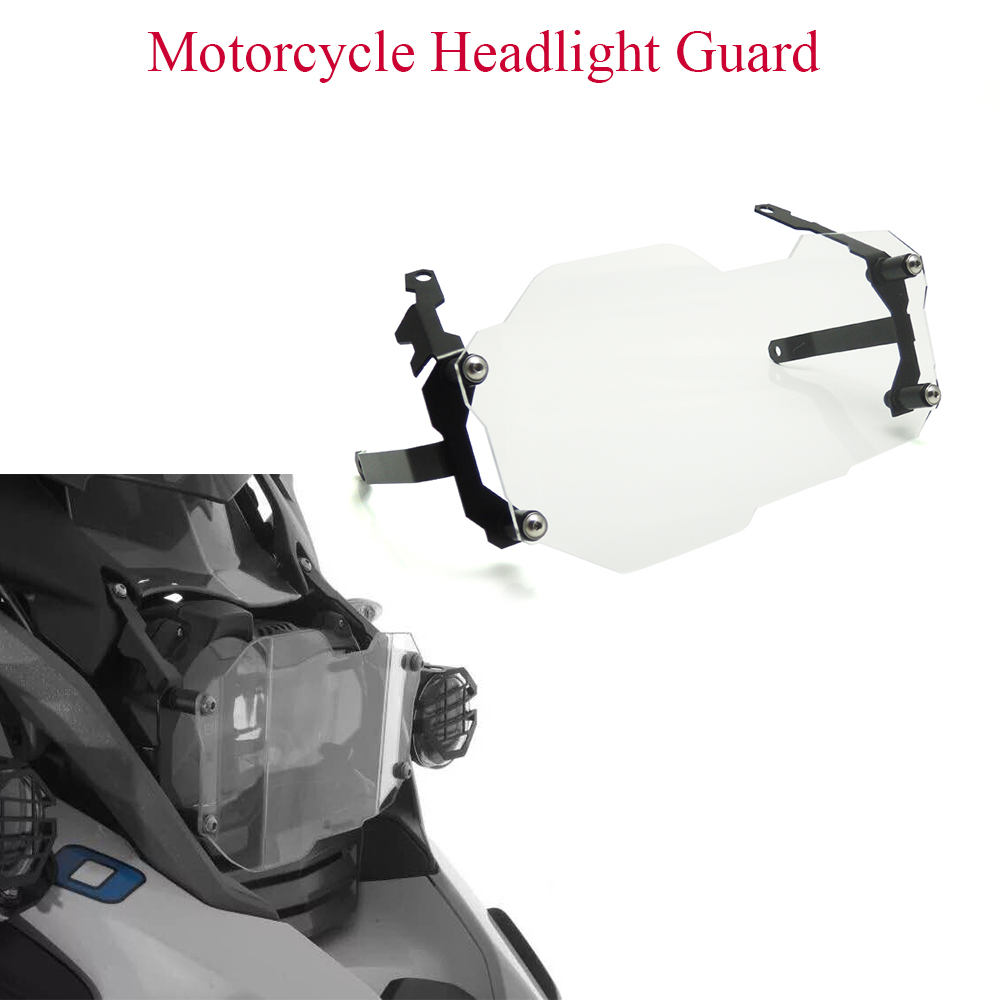 For <font><b>BMW</b></font> R1250GS <font><b>adv</b></font> <font><b>LC</b></font> R 1250GS R 1250 GS Adventure Motorcycle Headlight Guard Protector Lens Cover Transparent <font><b>Accessories</b></font> image