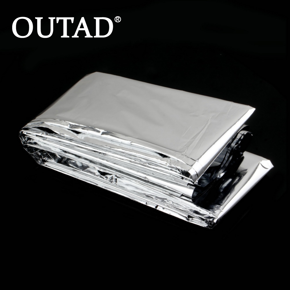 Outdoor WaterProof Emergency Survival Rescue Blanket Foil Thermal Space First Aid Sliver Rescue Curtain Military Blanket Safety