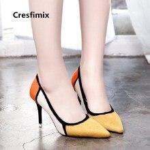 Mujer moda cómoda primavera y verano slip on zapatos de tacón alto señora  casual multi color tacón alto bombas sexy zapatos e267. 47539ebdca1d