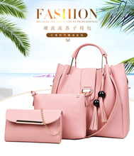 3Pcs Composite Mother and Child bag 2019 New Female Large bag pack Capacity Combination Women Light Multifunction Handbag