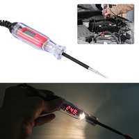 Motorcycle Power Circuit Tester DC 3V 48V Digital LCD Display Wide Detect Range Heavy Duty Coil