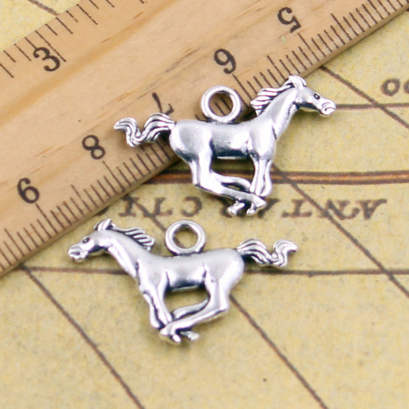 10pcs Charms running horse steed 12*28mm Tibetan Silver Plated Pendants Antique Jewelry Making DIY Handmade Craft