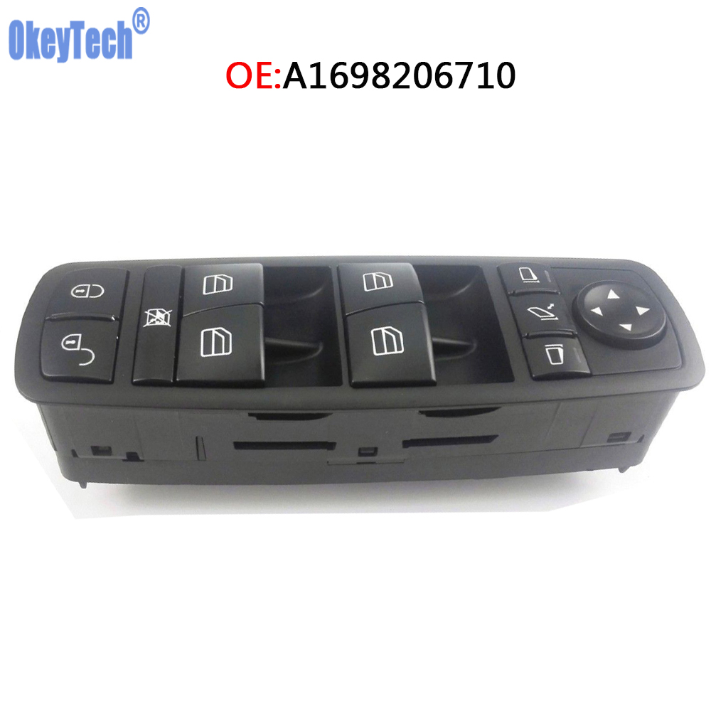 OkeyTech Electric Power Window Lock Switch Fits For Mercedes-Benz B-Klasse W245 W169 A-Klasse <font><b>A1698206710</b></font> 03728265 1698206710 image