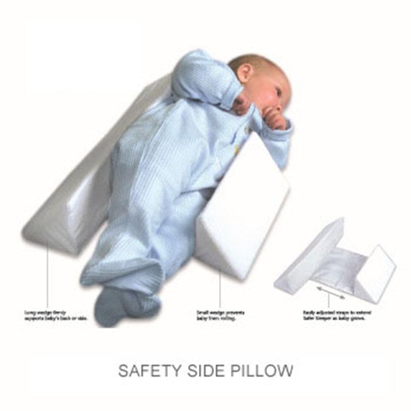 Baby Styling Pillow Newborn Sleeping Position Correcting Flat Head Anti Roll Pillow Infants Side Sleeper Pro