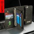 CaseMe Для iPhone 6 6 S Case Прочный Натуральная Кожа многофункциональный Бумажник Телефон Обложка для iphone7plus, новое Прибытие для s7edge