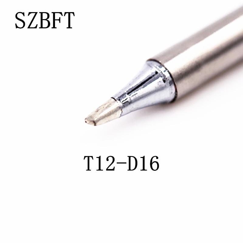 Puntas de soldador SZBFT T12-D16 B2 B4 BC1 BC2 BC3 BCF1 series para la estación de soldadura Hakko FX-951 FX-952
