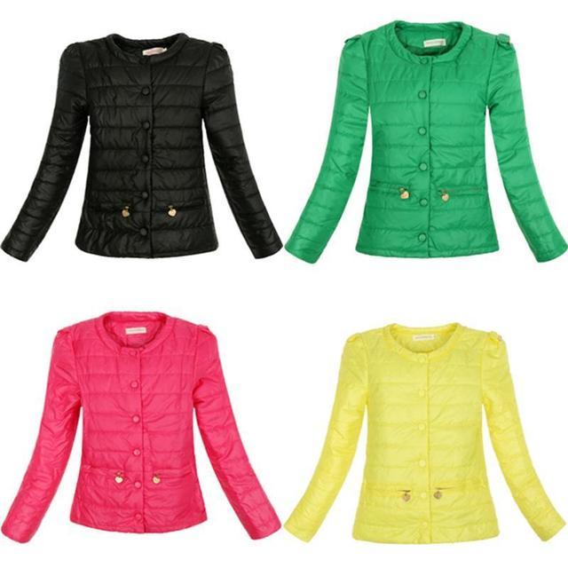 4 Cores Quentes Mulheres Jaqueta de Inverno Nova Moda de Algodão Acolchoado Slim Fina O Pescoço Senhoras Parkas Sobretudo Casaco Plus Size XXL