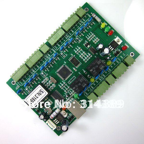 Tcp IP WG2002.NET dois 2 porta controlador de acesso 20 K usuários 100 K eventos MEM Fire Protection e alarme lógica de disparo programável