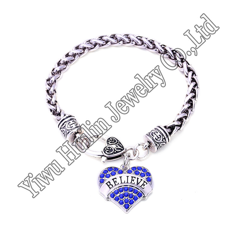 ... ARMY AIR FORCE AUNT BABY SIS BELIEVE BEST FRIEND Pendant Charm  Bracelet-in Charm Bracelets from Jewelry   Accessories on Aliexpress.com  647fab720