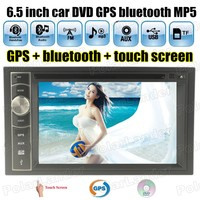 7 языков рулевое колесо AM, FM USB Bluetooth TF сенсорный экран 2 DIN 6.5 дюймов dvd-радио MP5 MP4-плееры GPS навигации