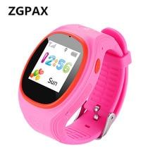 ZGPAX Smartwatch GPS Relógio De Rastreamento Com a SOS LBS Criança Do Miúdo disque Chamada Lembrete Mensagem Bebê Relógios Inteligentes Para iphone 6 smartphones