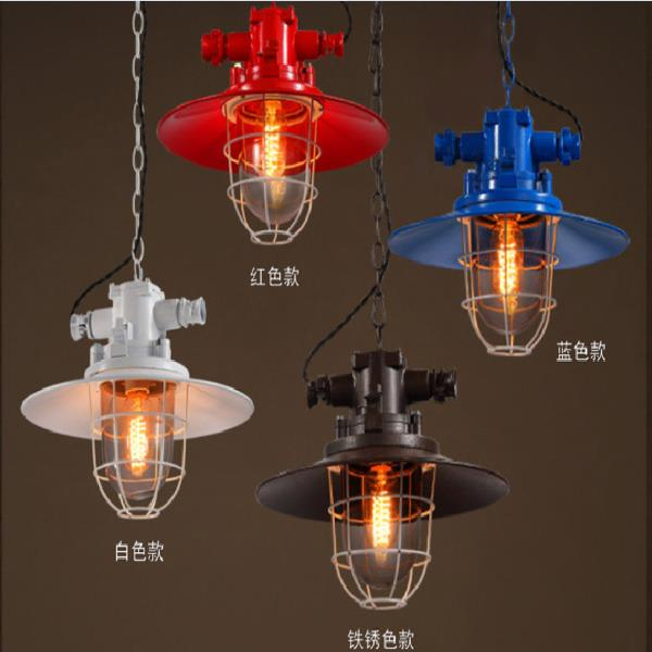 Loft retro industrial wind personality cafe Pendant Lights American village iron bar table restaurant lid Pendant Lamps ya7319 ascelina american retro pendant lights industrial creative rustic style hanging lamps pendant lamp bar cafe restaurant iron e27