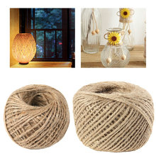 Natural 38M/75M 2mm  Burlap Hessian Jute Twine Cord Hemp Rope String Gift Packing Strings Event Party Supplies Wedding Decor