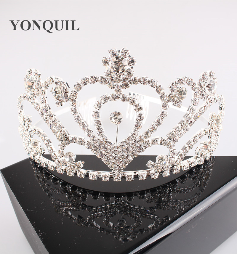 Free Shipping Gorgeous Sparkling Wedding Diamante Pageant font b Tiaras b font Hairband Crystal Bridal Crowns