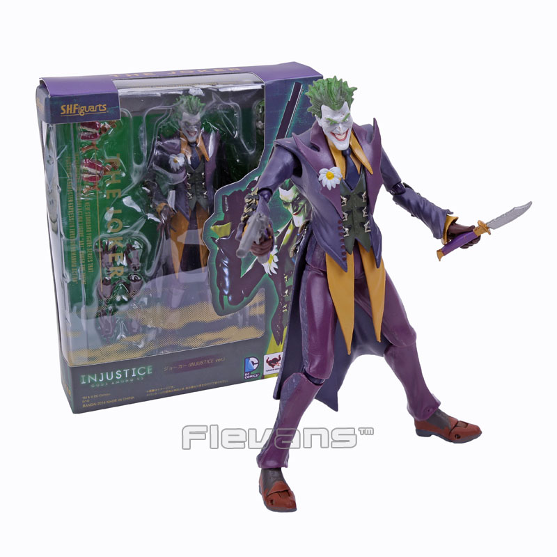 SHFiguarts Batman The Joker INJUSTICE ver. PVC Action Figure Collectible Model Toy 15cm Boxed free shipping 6 comics dc superhero shfiguarts batman injustice ver boxed 16cm pvc action figure collection model doll toy