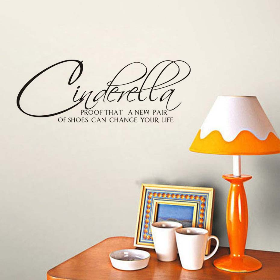 Cinderella proof that shoes Wall Art Quote Vinyl Transfer Decal Sticker Decor