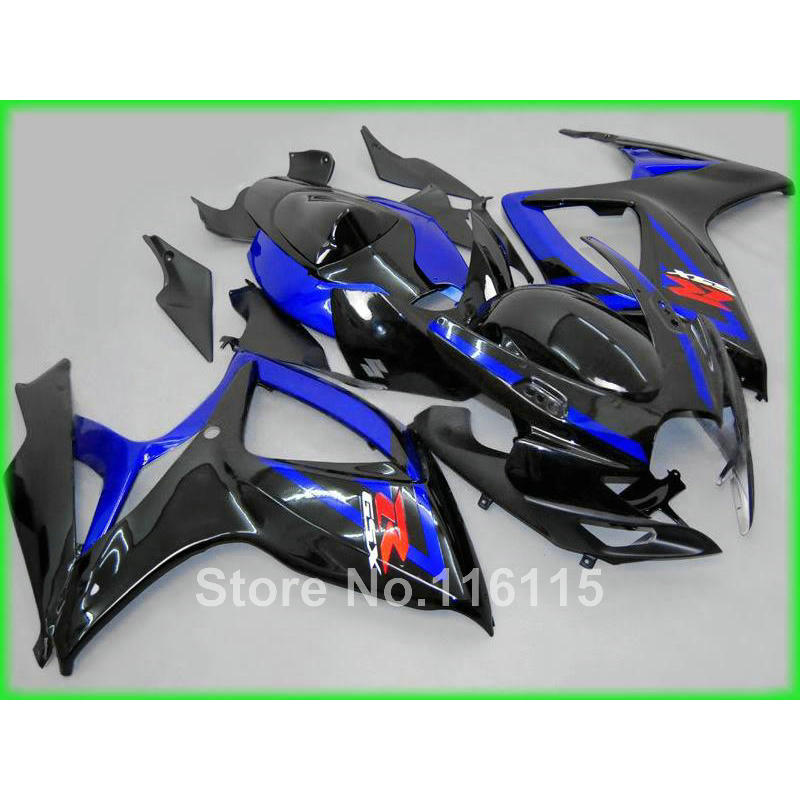 Injection mold  fairing kit for SUZUKI GSXR 600 750 K6 K7 2006 2007 GSXR600 GSXR750 06 07 blue black fairings A634