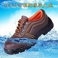 Mens plus size vestido de trabajo puntera de acero zapatos de seguridad placa inferior de cuero suave zapatos de plataforma transpirable hombre otoño primavera masculino