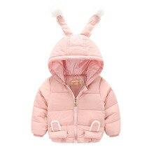 Retail New girls jacket animal rabbit design cotton  autumn baby girl coat children jackets kids coat for girls clothing