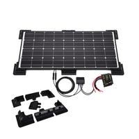 Boguang 100w solar panel galss Solar kits Photovoltaic Module cell ABS fix frame 18V/12V 10A controller for RV yacht home power
