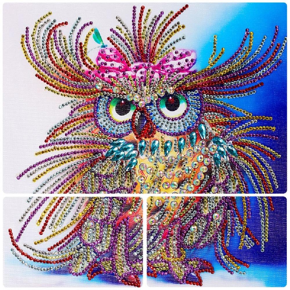 UK Stock 30 30cm Owl Diamond Painting DIY Full Tools Set Rhinestone Handcraft DIY Kit 5D Diamond Painting Full Drill Square in Diamond Painting Cross Stitch from Home Garden