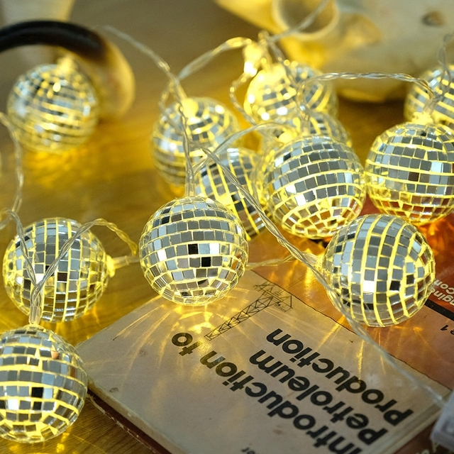 Fairy Retro Mosaic Bulb String Lights