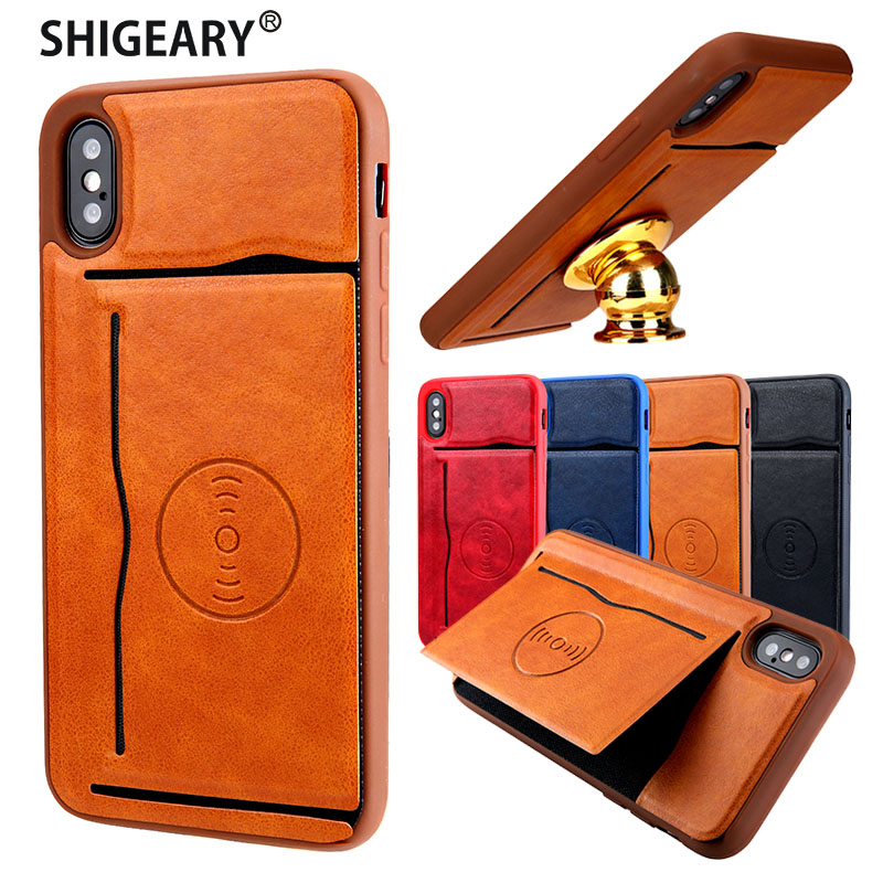 Back Cover for iPhone X 10 Case for iPhone 10 Cover Original Shigeary Card Holder for iPhone X Phone Cases 5.8 inch Capa Fundas
