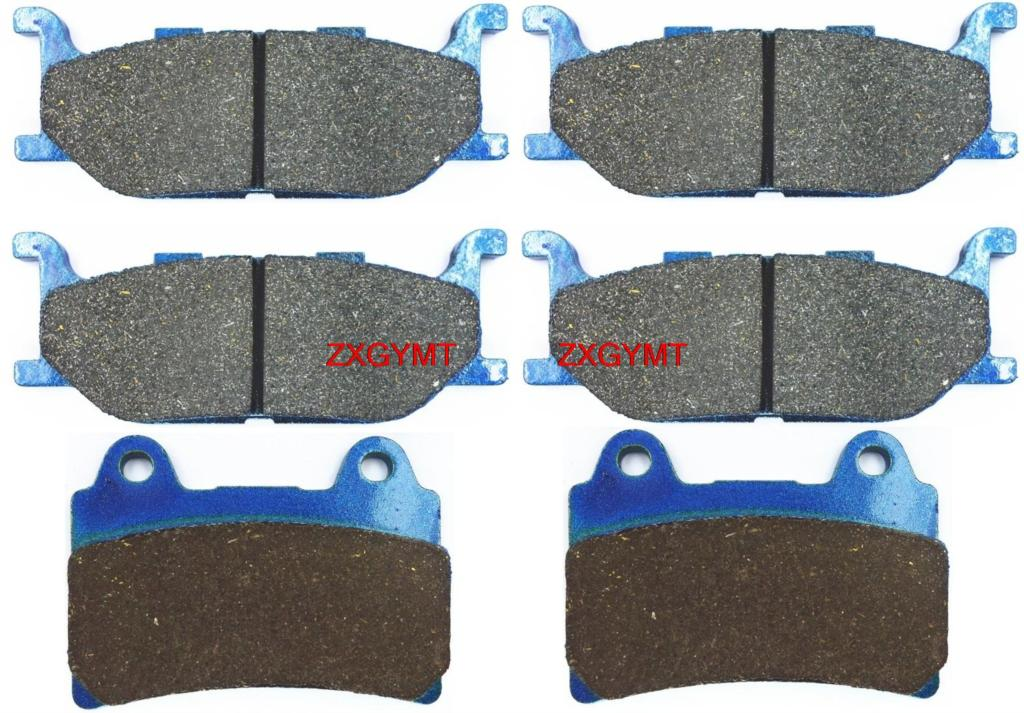 Motorcycle Carbon Brake Pad fit YAMAHA XVZ1300 XVZ 1300 TF Royal Star Venture 1999 & up motorcycle front and rear brake pads for yamaha xvs 1300 ctw ctx v star 1300 tourer 2007 2010 black brake disc pad