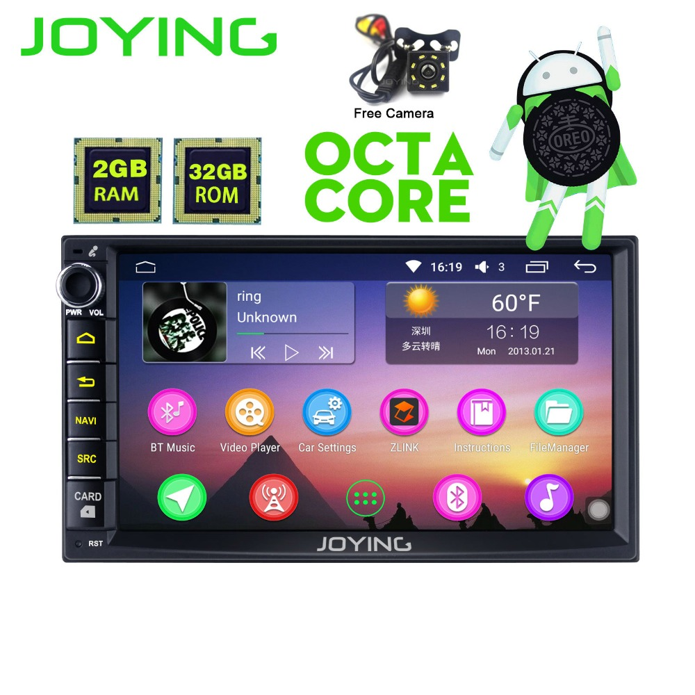 7 tête Unité Universel Android 8.0 Voiture Radio Stéréo Magnétophone Multimédia Lecteur Soutien Carplay Cam Dash OBD2 Directeur roue