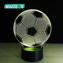 7 цветов меняющий свет футбольный мяч 3D Визуальный светодиодный ночсветильник USB новинка настольные лампы как домашний декор помимо лампы