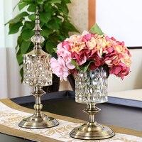 Vases for flowers Glass vase Flower vases for homes Candy jar Candy storage jar Tapletop vases decorations