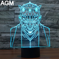 Star Wars 3D Toque de Luz 7 lâmpada De Tabela De Cores Mudando De Mesa 3D Luminaria lâmpada 3D CONDUZIU A Lâmpada O Cavaleiro Jedi 3D Led Luzes Da Noite