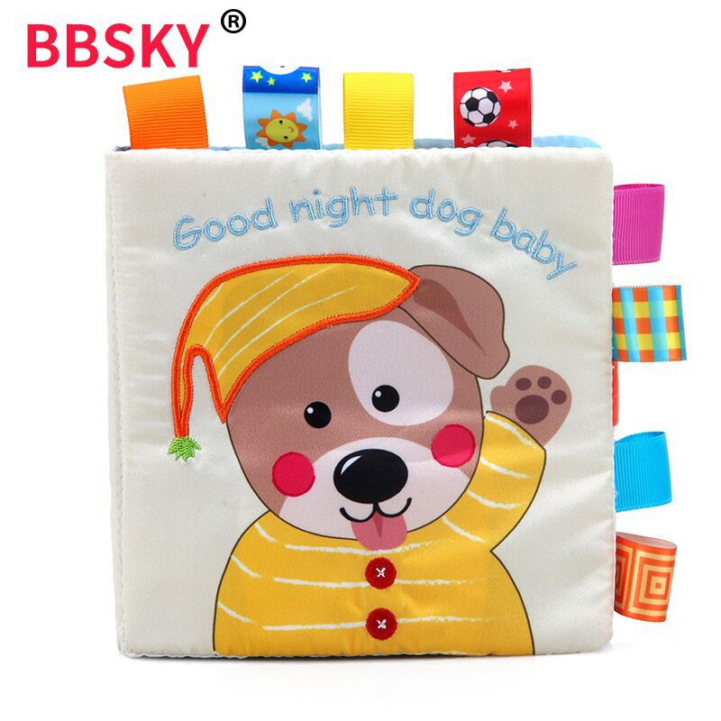 Baby Cloth Book For Kids Sound Educational Toys For Children Activity Quiet Book English Early Learning Resources Sensorial Book