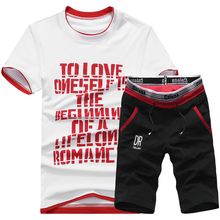 BSETHLRA 2018 Brand New Men T Shirt Sets Summer Hot Sale Cotton Comfortable Short Sleeve Tshirt Homme Casual Set Male Size D03