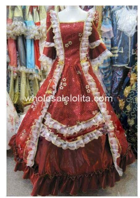 17 18 век Marie Antoinette линия бальное платье барокко платья в стиле рококо
