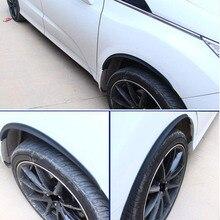 Car shape 2PCS/set 70/33/25 rubber 3D carbon fiber Fender Protect Wheel Tire Edge Eyebrow Stickers Universal Accessories