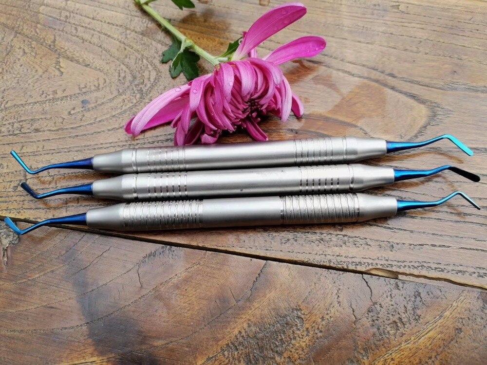 Kit d'instrument de remplissage de matériel de résine composite de clinique dentaire 3 pièces, matériel de dentiste