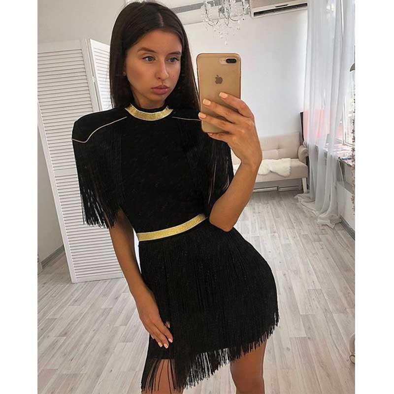 Gland 2019 Noir Mode Robe Et En blanc rouge l2837 Rouge Noir Blanc Qualité Date Cocktail Celebrity Haute Bandage Gros Femmes De Casual qwAAg4C