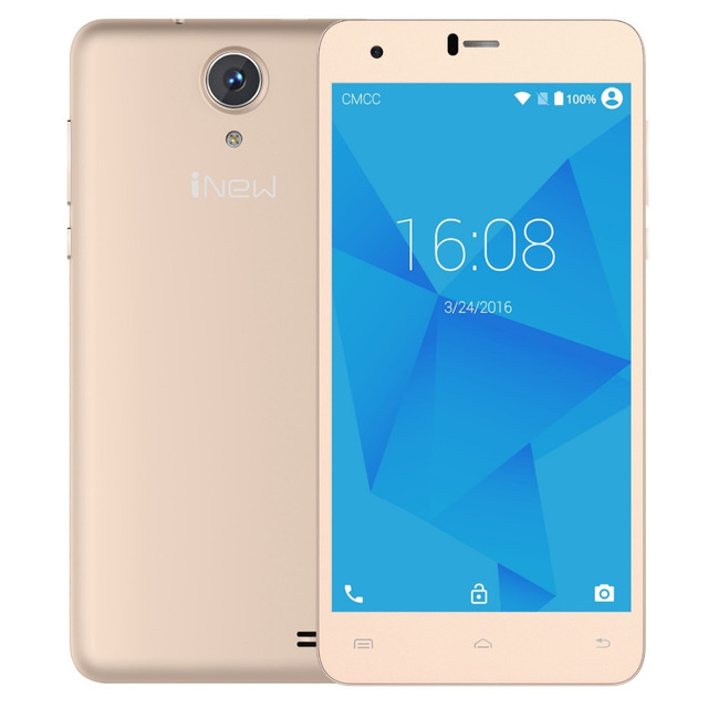 INew U8W ROM 8 ГБ + RAM 1 ГБ Сети 3 Г 5.5 ''2.5D Android 5.1 MTK6580 Quad Core 1.3 ГГц GPS Смартфон WCDMA 1280x720 пикселей