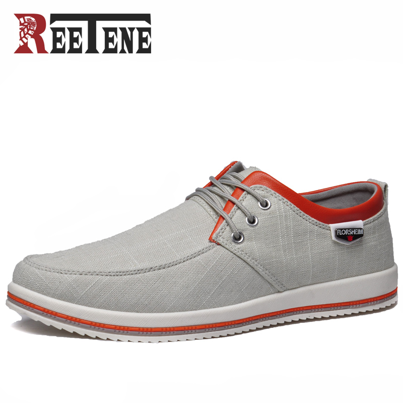 REETENE Spring Canvas Shoes Men Casual Shoes Men Fashion Autumn Mens Shoes Casual Lace Up Zapatillas Hombre Casual Sneakers ingersoll in2716wh