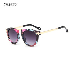 Ywjanp Kids Sunglasses Baby Boys Girls Vintage Round Sun Glasses Children Arrow Glass 100%UV Protection Oculos De Sol Gafas