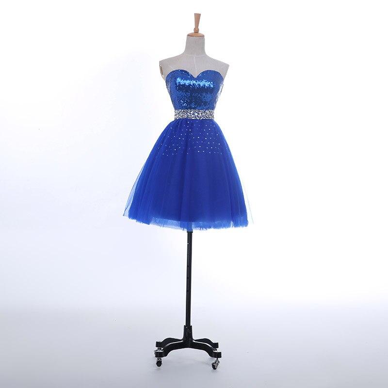69a37305ca9 US $90.99 |VanMe Royal Blue Sequins Homecoming Dresses 2017 Rhinestones  Belt Sweetheart Short Dress for Graduation mezuniyet elbiseleri-in  Homecoming ...