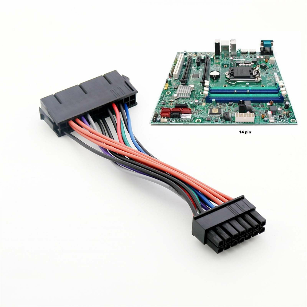 New 24 Pin To 14 Pin Power Supply ATX Adapter Cable For IBM Lenovo Q77 B75 A75 Q75
