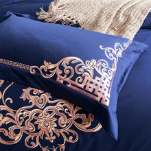 Embroidered Luxury Royal Bedding Set 60S Egyptian Cotton Silky 4/6pcs King Queen Size Boho Bed Set Duvet Cover Bed sheet set