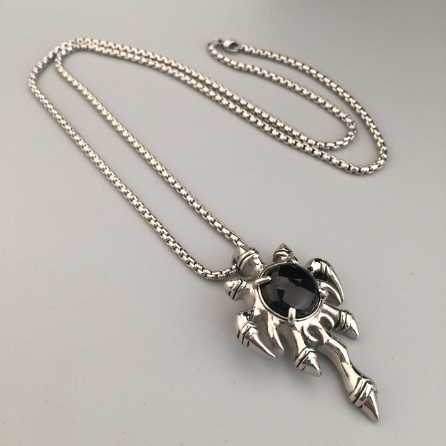 9dea69fb6 High Quality Flame Claw Pendant Necklace Black Onyx Gem Jewelry CZ Stone  Iced Out Crystal Necklace Hip Hop Style Mens Gift