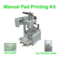 Alta Qualidade Máquina de Impressão Manual Pad KIT NO Sistema Selado Copo da Tinta Pad Printer Data Chapa de Impressão/Caneta de Luz/presente/Vidro