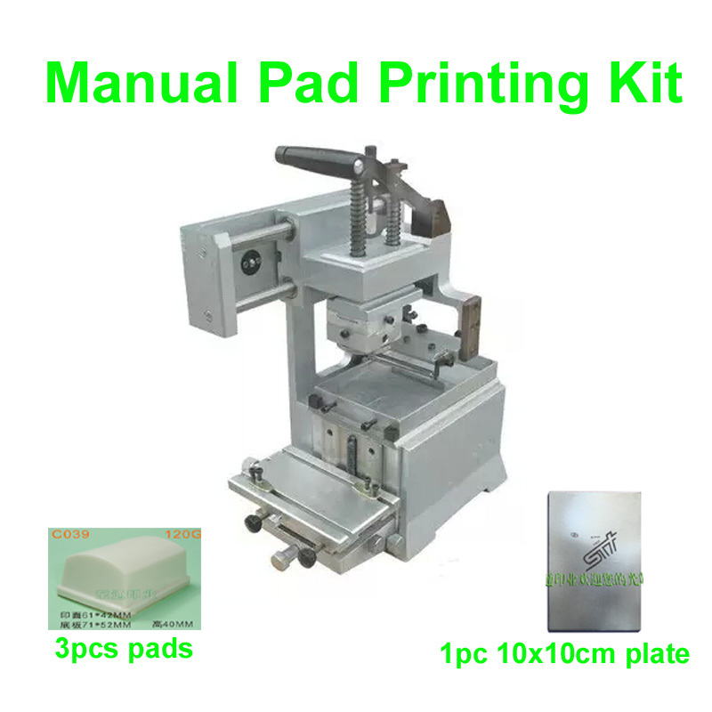 High Quality Manual Pad Printing Machine KIT NO Sealed Ink Cup System Pad Printer Date Printing Plate Pen/Light/Gift/Glass new 220v photosensitive portrait flash stamp machine kit self inking stamping making seal holder film pad no ink