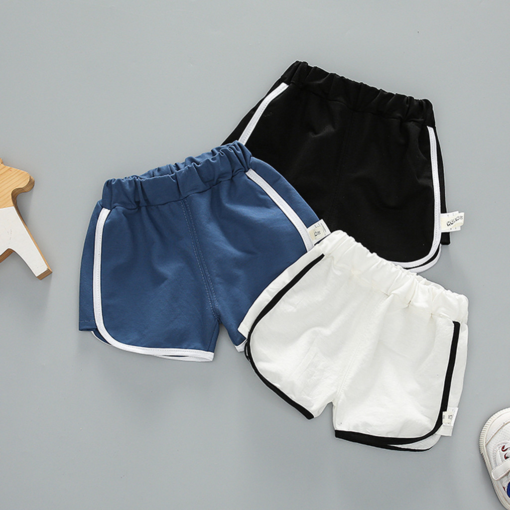 Baby Girl Boy   Shorts   Solid Stripe Casual Toddler Infant Kids Sport   Short   Pants Summer Fashion